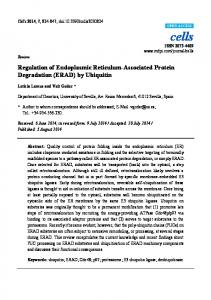 (ERAD) by Ubiquitin - BioMedSearch