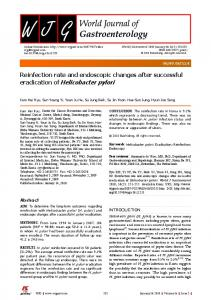 eradication of Helicobacter pylori - Baishideng Publishing Group