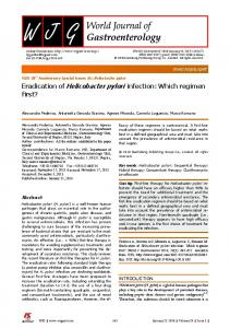 Eradication of Helicobacter pylori infection - Baishideng Publishing ...