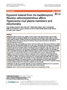 Ergosterol isolated from the basidiomycete Pleurotus ... - BioMed Central