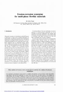 Erosion-corrosion synergism for multi-phase ... - La Houille Blanche