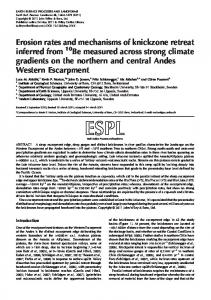 Erosion rates and mechanisms of knickzone retreat inferred from
