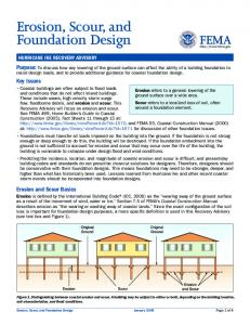 Erosion, Scour, and Foundation Design