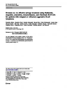 Erratum to: An effective salvage treatment using ... - Springer Link