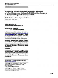 Erratum to: Bioequivalence and Tolerability Assessment of a Novel ...
