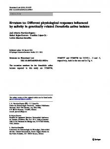 Erratum to: Different physiological responses ... - Springer Link