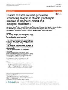 Erratum to: Extensive next-generation sequencing analysis in chronic ...