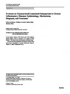 Erratum to: Glucocorticoid-Associated Osteoporosis in Chronic