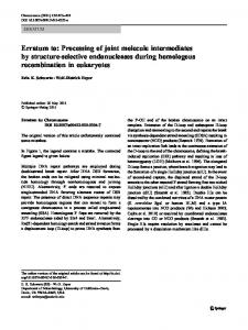 Erratum to: Processing of joint molecule intermediates by structure ...