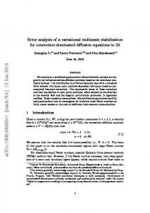 Error analysis of a variational multiscale stabilization for convection ...