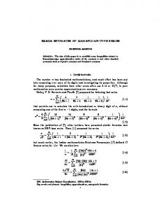 ERROR ESTIMATES OF RAMANUJAN-TYPE ...