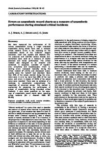 Errors on anaesthetic record charts as a measure of anaesthetic ...