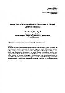 Escape Rate of Transient Chaotic Phenomena in Digitally ... - BME
