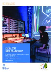 ESCOM 2017 BOOK OF ABSTRACTS