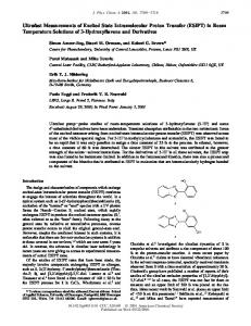 ESIPT - ACS Publications - American Chemical Society