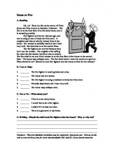 ESL Worksheet - Emergency - EL Civics