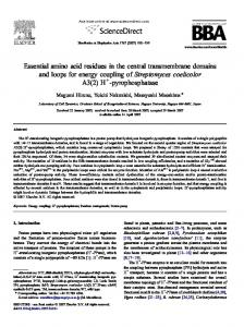Essential amino acid residues in the central transmembrane ... - Core