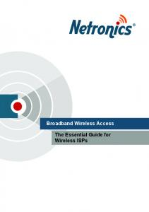 Essential Guide to Wireless ISPs - Netronics Networks