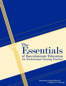 Essentials of Baccalaureate Education for Professional Nursing