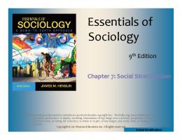 Essentials of Sociology - National Paralegal College