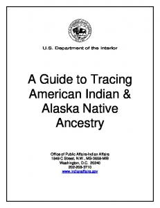 Establishing Your American Indian Ancestry - Indian Affairs