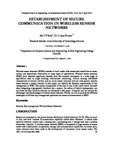 establishment of secure communication in wireless sensor networks