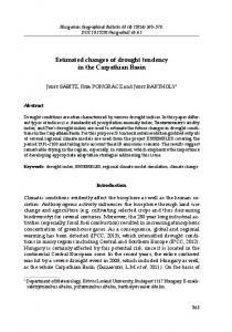 Estimated changes of drought tendency in the Carpathian ... - MTA FKI