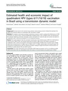Estimated health and economic impact of ... - BioMedSearch