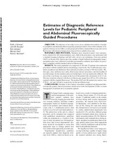 Estimates of Diagnostic Reference Levels for ...