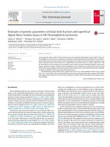 Estimates of genetic parameters of distal limb fracture and ... - Core