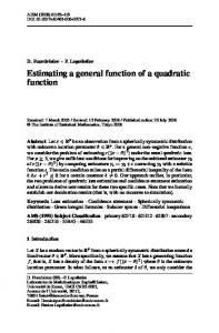 Estimating a general function of a quadratic function