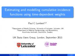 Estimating and modelling cumulative incidence functions ... - Stata