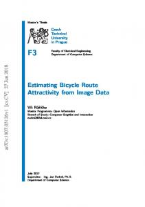 Estimating Bicycle Route Attractivity from Image Data (Master's