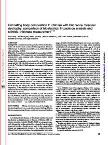 Estimating body composition in children with ...