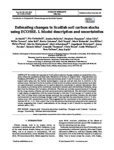 Estimating changes in Scottish soil carbon stocks using ECOSSE. I ...