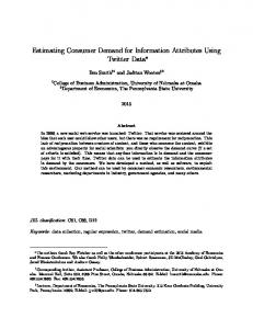 Estimating Consumer Demand for Information Attributes Using ...