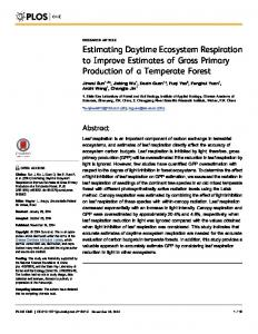 Estimating Daytime Ecosystem Respiration to ... - Semantic Scholar