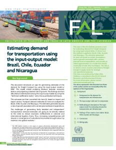 Estimating demand for transportation using the input-output ... - Cepal