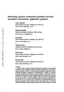 Estimating dynamic mechanical quantities and their associated