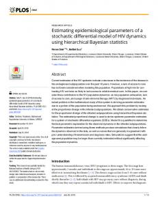 Estimating epidemiological parameters of a stochastic ... - PLOS