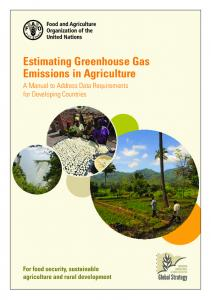 Estimating Greenhouse Gas Emissions in Agriculture