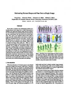 Estimating Human Shape and Pose from a Single Image