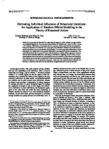 Estimating Individual Influences of Behavioral Intentions