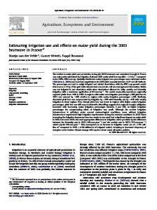 Estimating irrigation use and effects on maize yield ... - Google Sites