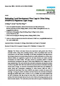 Estimating Land Development Time Lags in China ... - Semantic Scholar