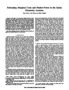 Estimating Marginal Costs and Market Power in the ...