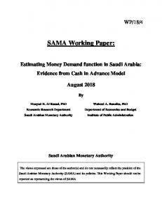 Estimating Money Demand function in Saudi Arabia