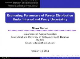 Estimating Parameters of Pareto Distribution Under Interval ... - CS UTEP