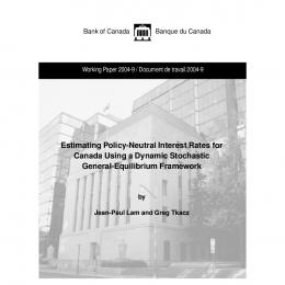 Estimating Policy-Neutral Interest Rates for ... - Banque du Canada