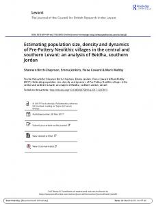 Estimating population size, density and dynamics of
